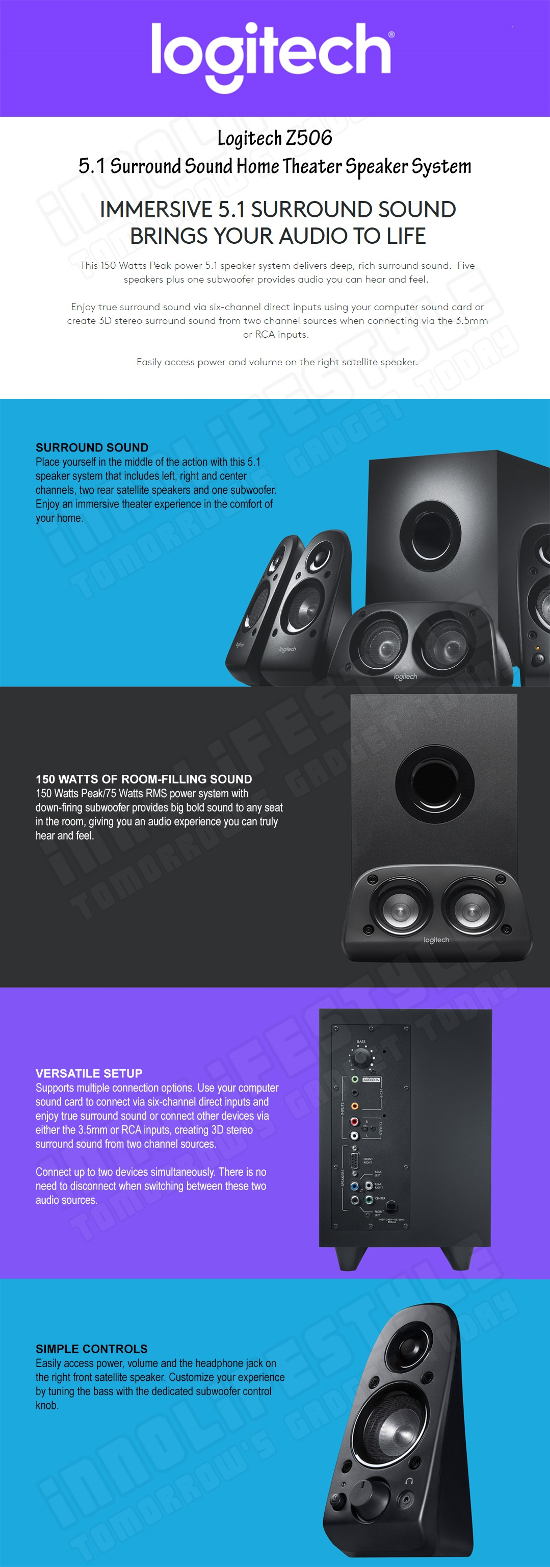 How To Hook Up 5 1 Surround Sound Speakers - Round Designs