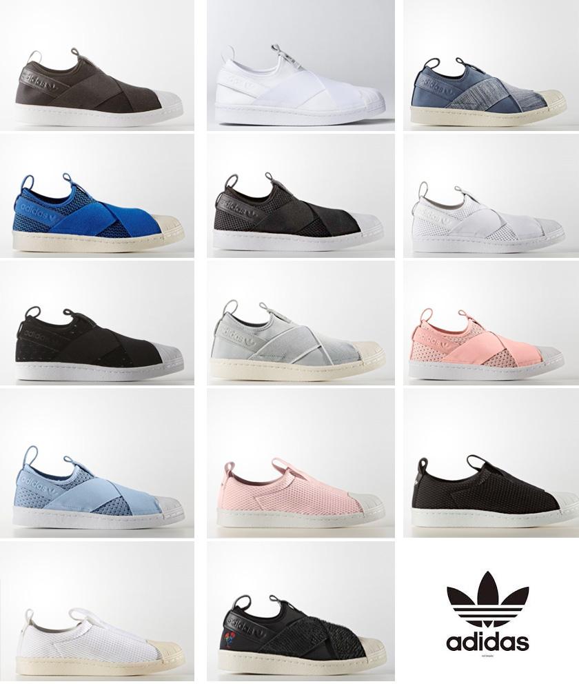 adidas superstar slip on colors