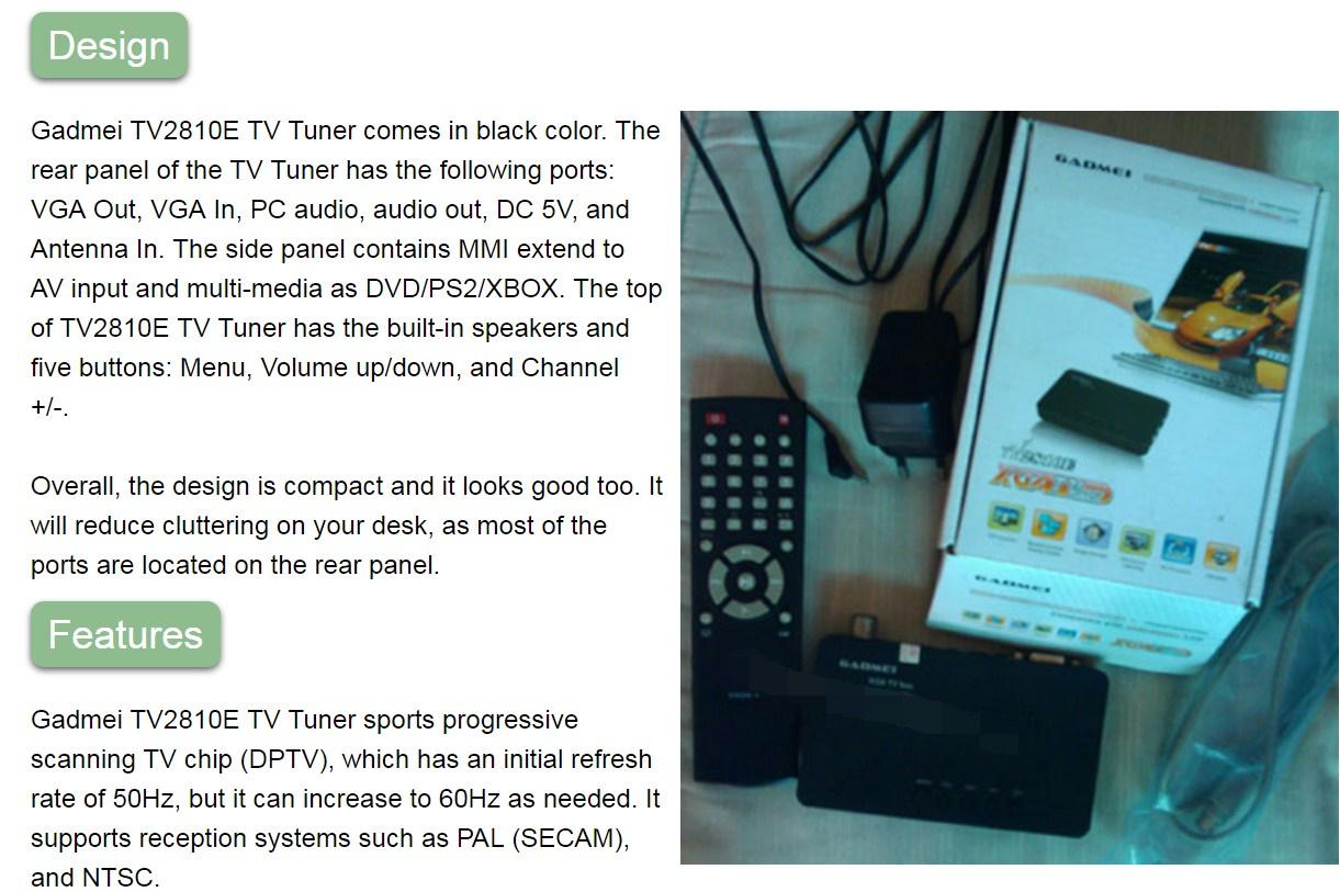 gadmei tv tuner software for windows 10