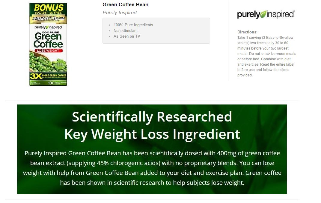 Green coffee bean extract before bed