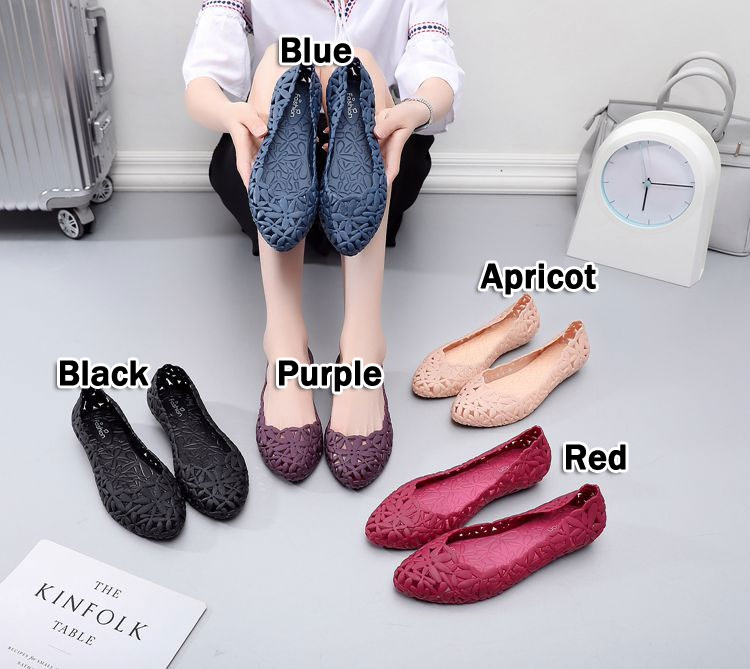 cc8ef8528  BUY 3 FREE SHIPPING  Flat shoes womens breathable sandals skid-proof  fashion jelly shoes