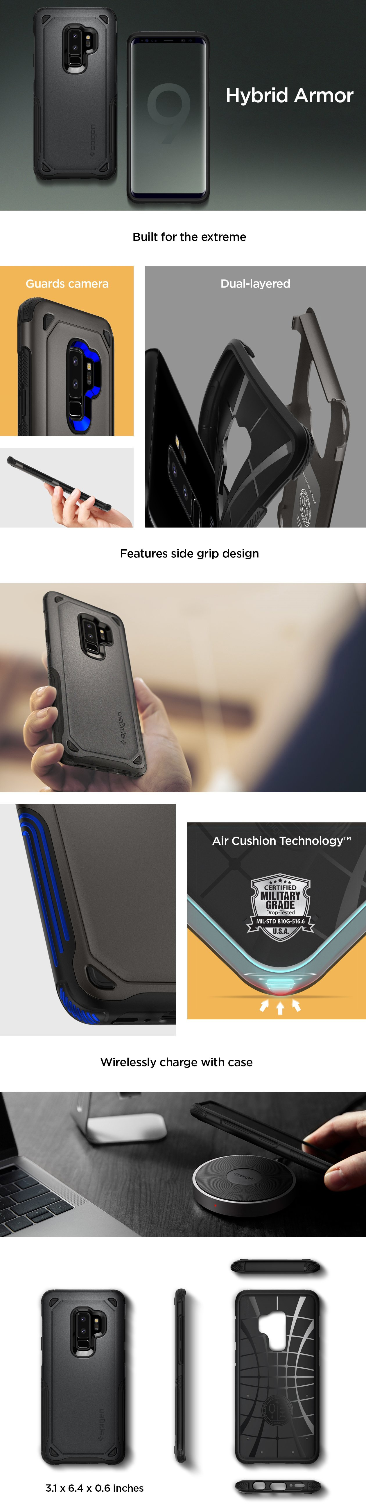Buy Spigen Samsung S9 Case Galaxy Casing Screen Protector 100 Note 9 Modern Slim Design Neo Hybrid Burgundy Urban Series Color Gunmetal Blue Coral Arctic Silver Midnight Black