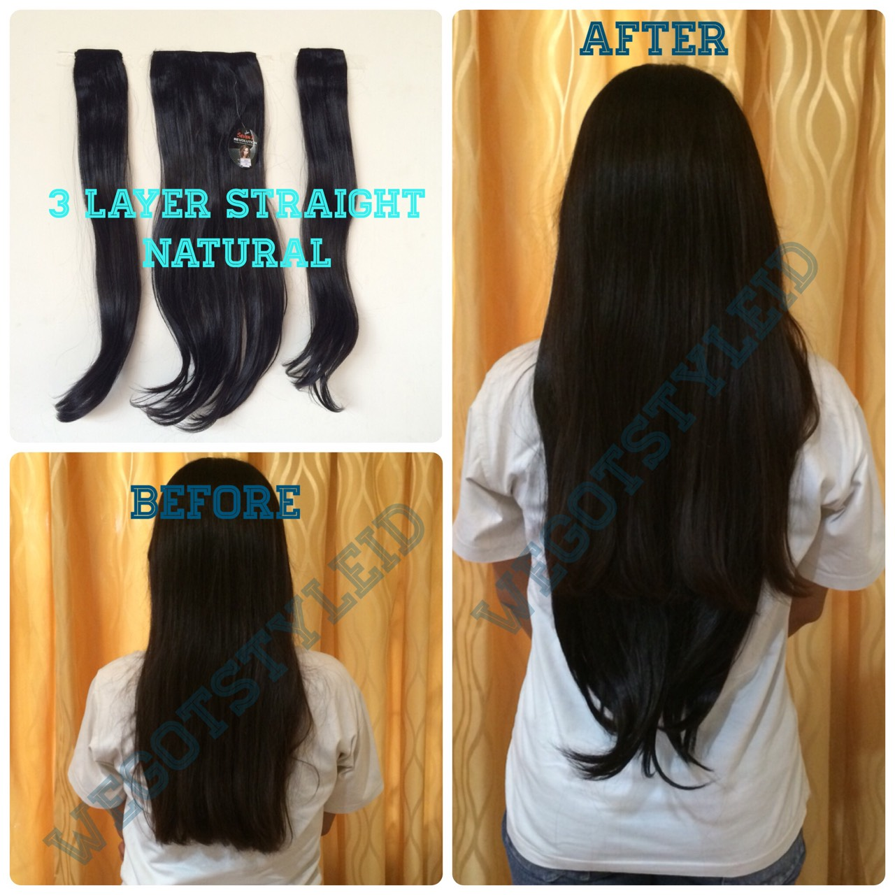 Seven 7 Revolution Hairclip Big Layer Lurus Smoting Hitam Daftar 7revolution Biglayer Curly Wavy 3 Natural