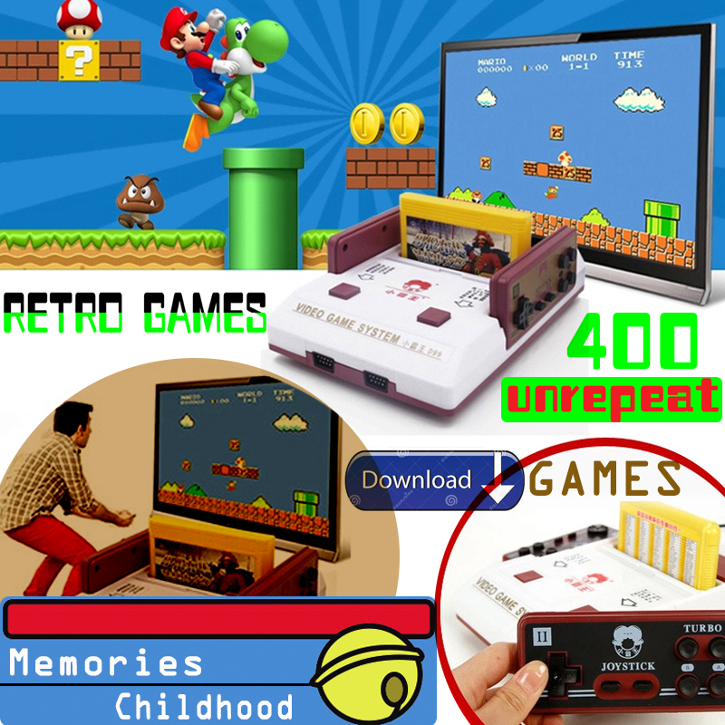 Retro Gaming Handheld Game Console and Cartridge with 600+ Un-repeat  Games/FC Nintendo NES classic