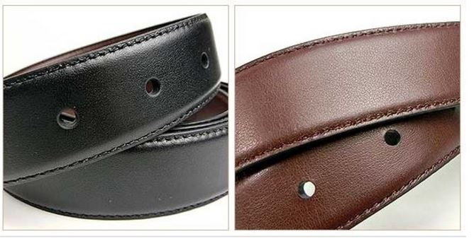 7589a1894246 A7   F65185 SIGNATURE PLAQUE HARNESS CUT-TO-SIZE REVERSIBLE LEATHER BELT -  BLACK DARK BROWN