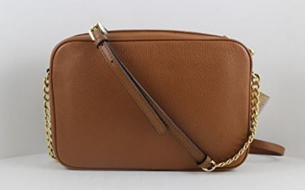 51943a5ddfafa MICHAEL KORS CROSSBODY COLLECTION - FULTON LARGE EAST WEST CROSSBODY -  LUGGAGE  03. Leather Golden hardware