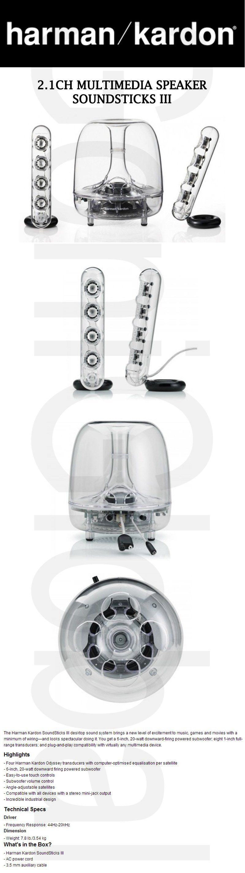 harman kardon 2 1ch multimedia speaker soundsticks iii ebay rh ebay com sg harman kardon soundsticks iii review harman kardon soundsticks iii review