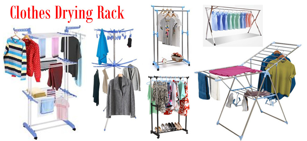 Shelf Clothes Drying Rack