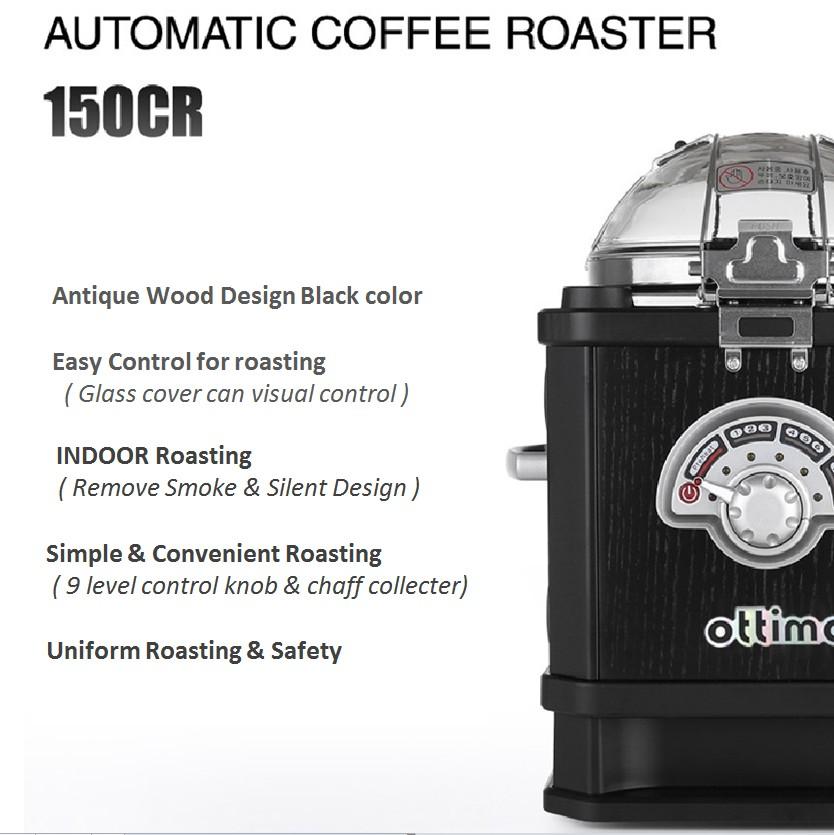 Ottimo J-150CR Coffee Bean Roaster/& J-300C Coffee Roaster Cooler