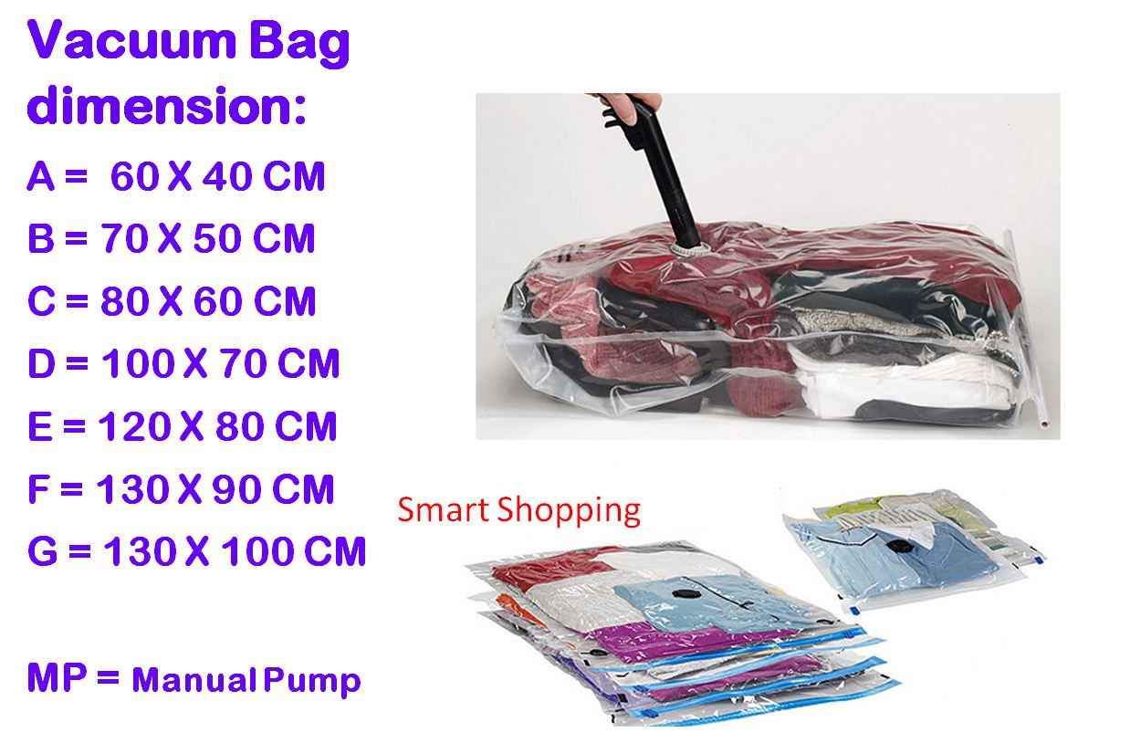 Buy High Quality Vacuum Bag Storage Set With Manual Or Electric Pump Vacum Travel B Bags Roll Up