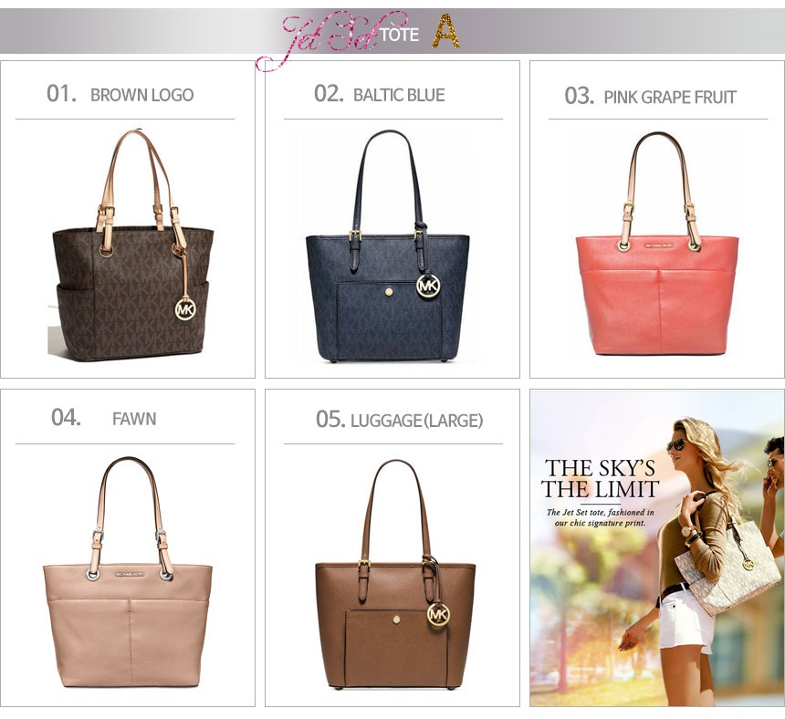 44ea088dc060 Michael Kors Jet Set Travel Zip Tote Official Genuine Products Shipped from  USA. Michal Kors Offical Genuine Products