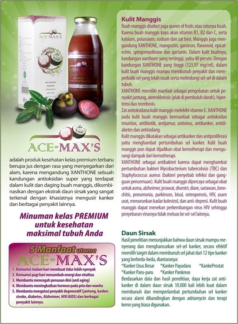 Ace Max Ekstrak Daun Sirsak dan Ekstrak Kulit Manggis