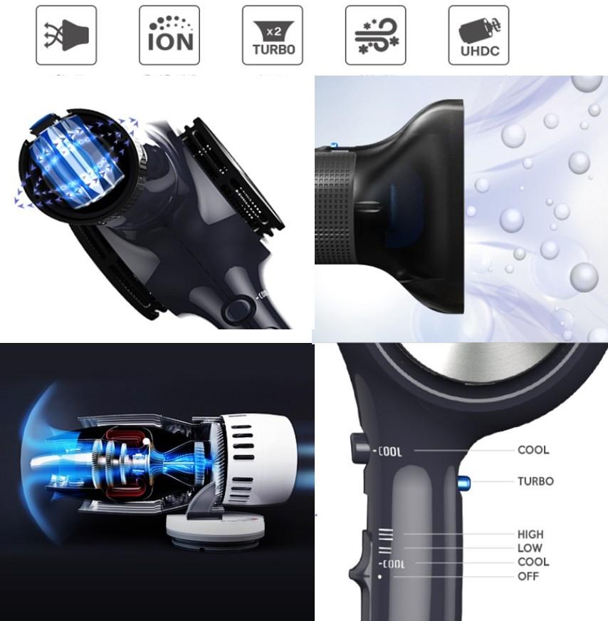 UNIX Professional 3D Air Spin Hair Dryer UN B1595 For Hair