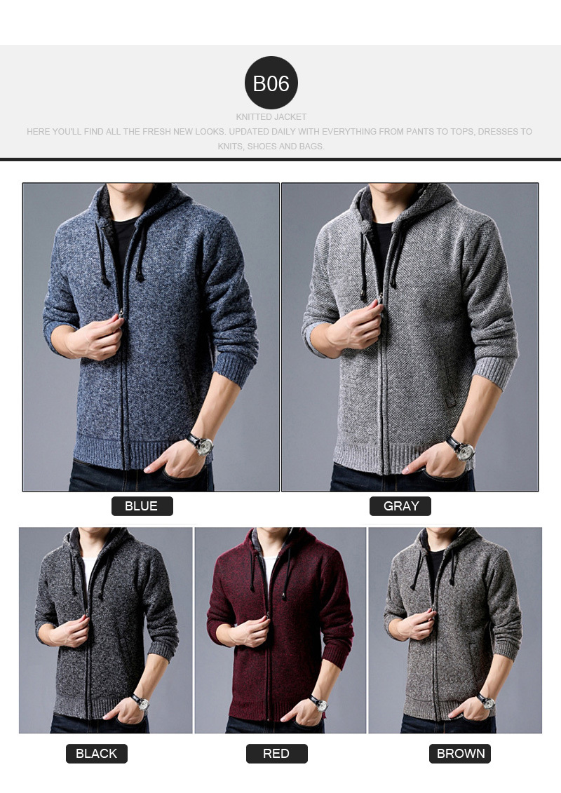 3fb5e36092a8 New Arrival Men Knitted Jacket Cardigan Winter Thicken Keep Warm Sweater  Coats Fashion Blazers