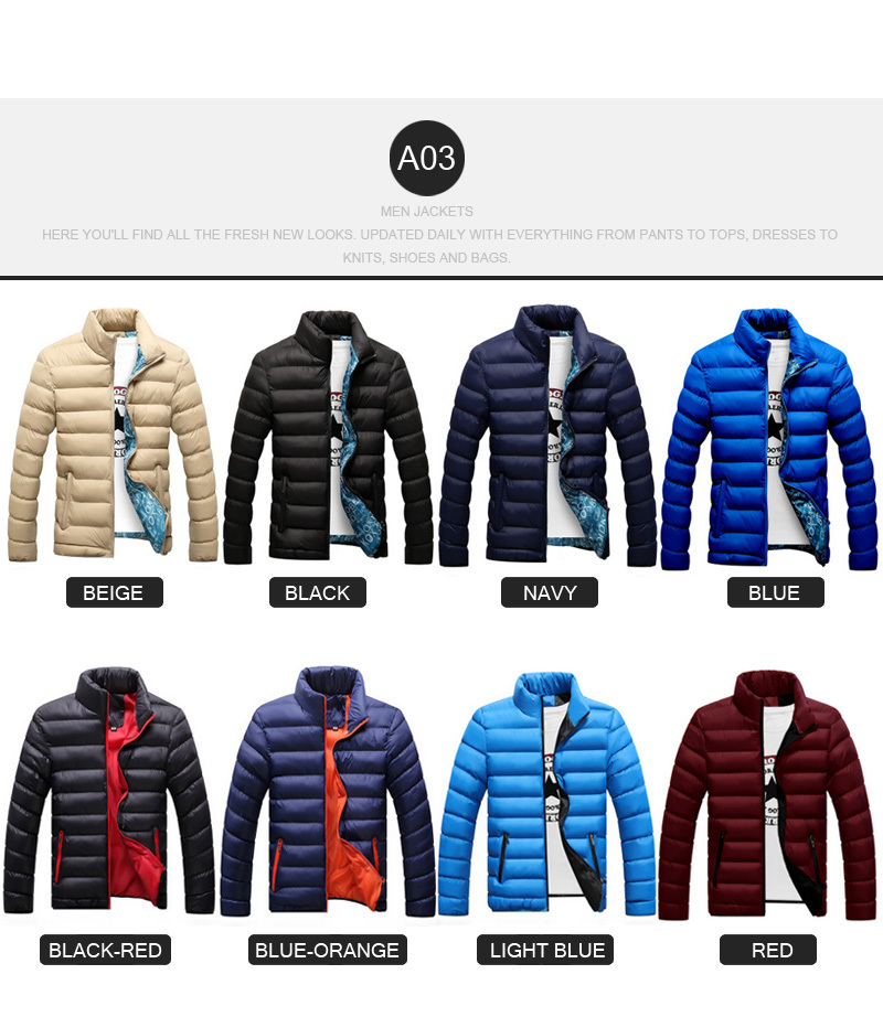 b4b53de80427 New Arrival Men Jackets Fashion Cotton Jacket Down Jackets Gentlemen Coat  Winter Keep Warm