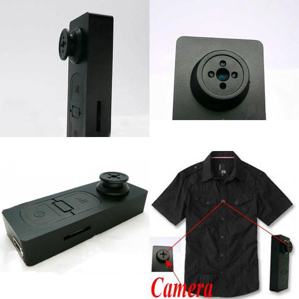 Button Spy Camera DVR Cam Sport Portable