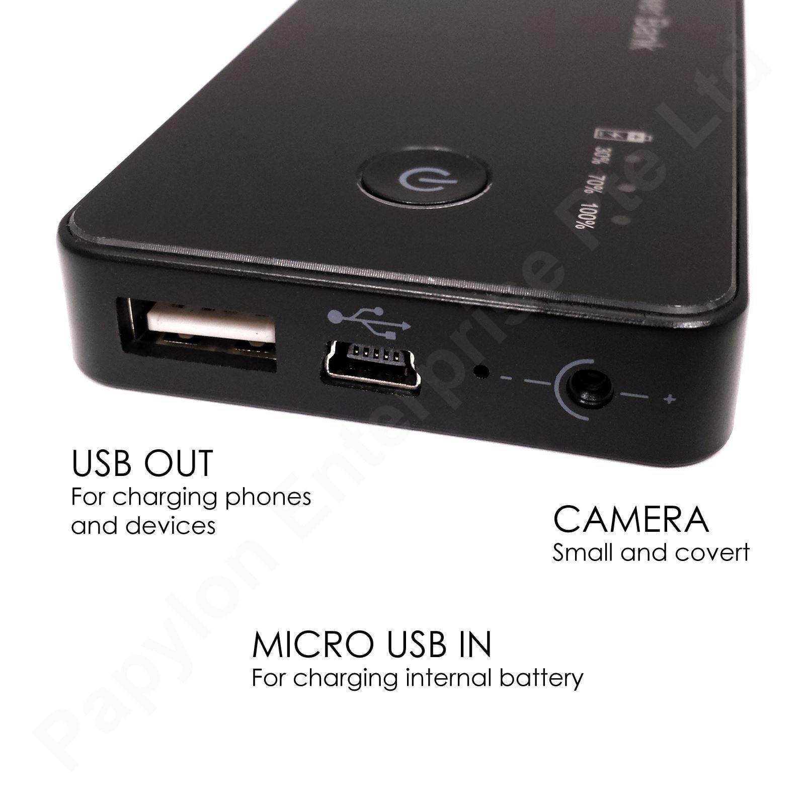 Spy Powerbank HD Video and Audio Micro SD Recording