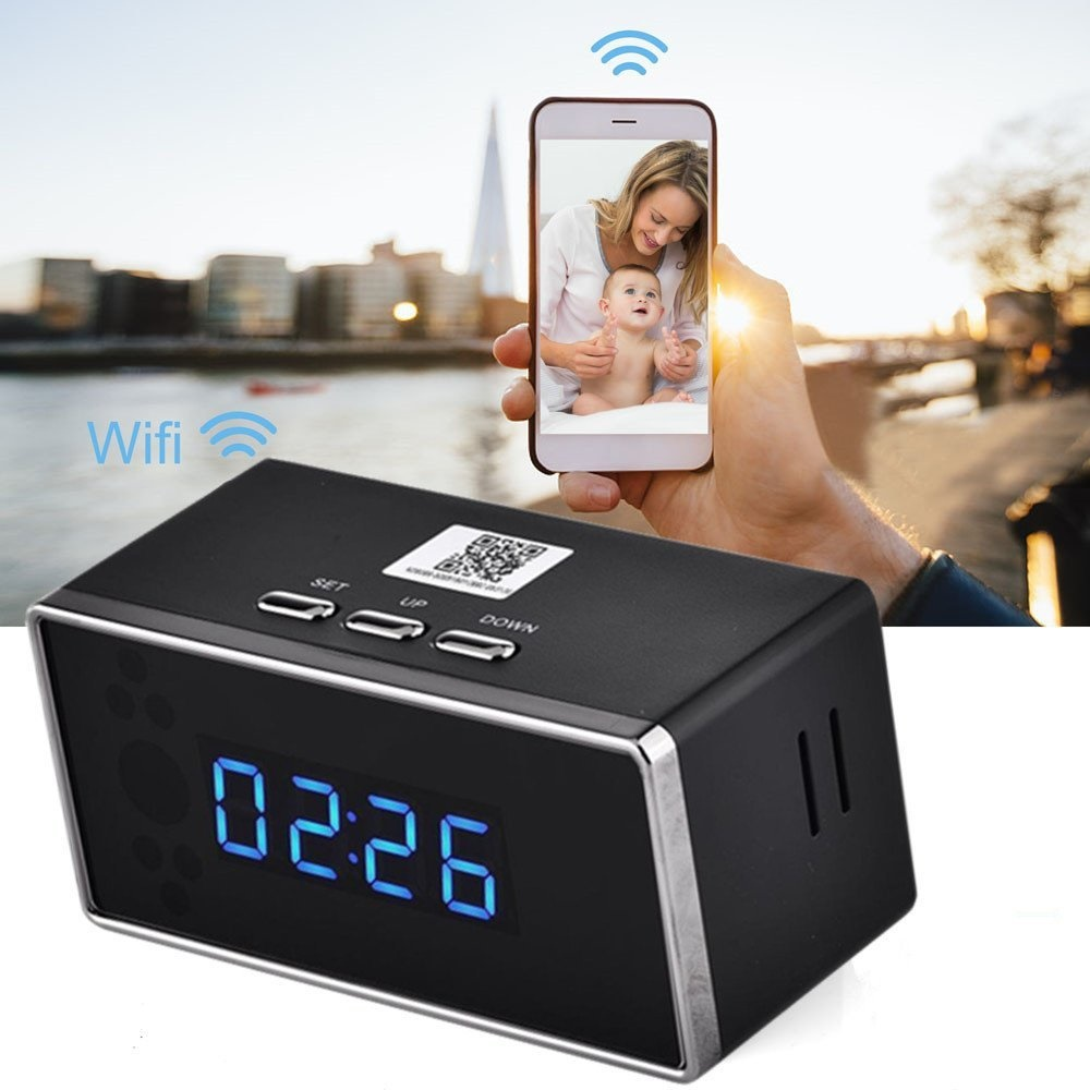 Mt-67 WiFi Spy Clock 1080p HD motion detection