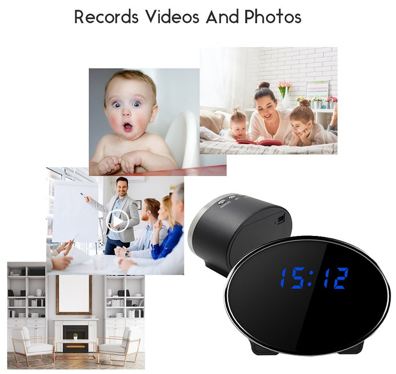Clock Camera WiFi Spy