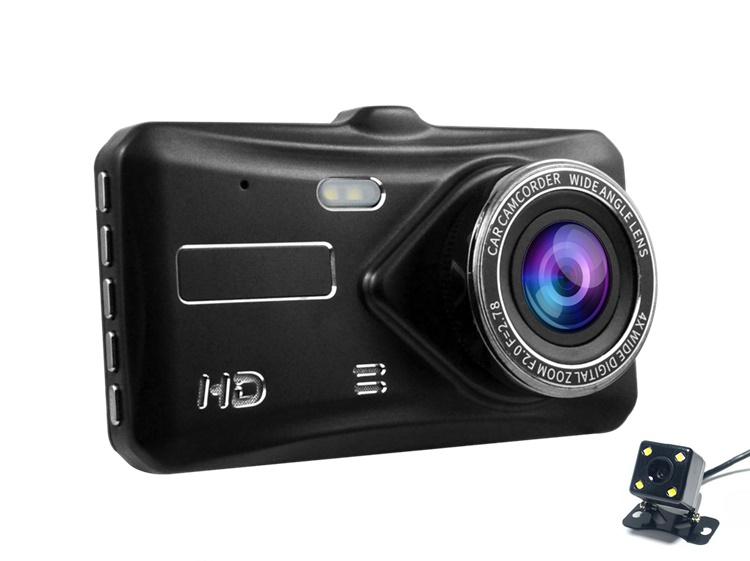 A6t Dual Lens Car Camera 4 0 Touch Screen Hd 1080p Dashcam Rearview
