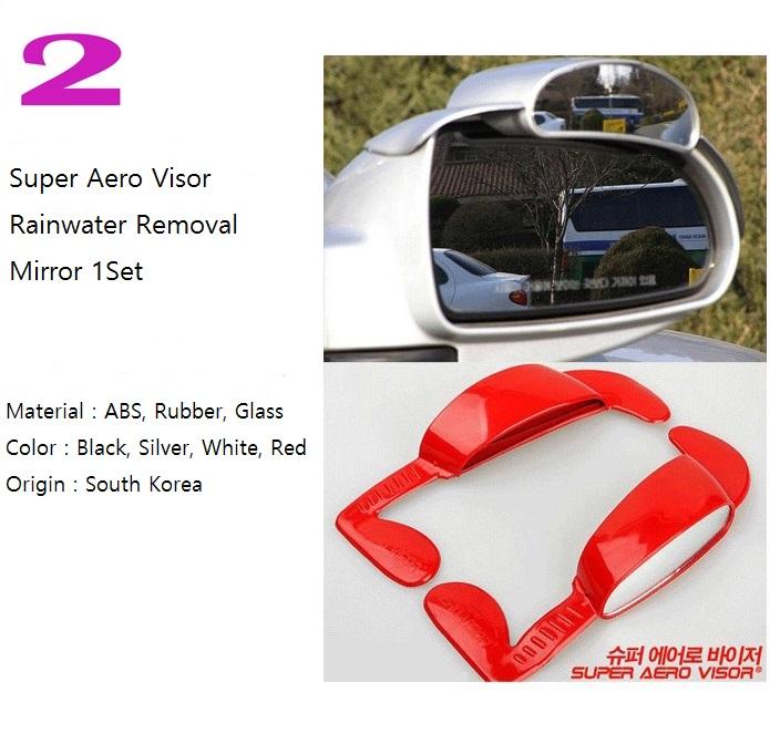Super Aero Visor Car Side View Mirror Rain Blower Black