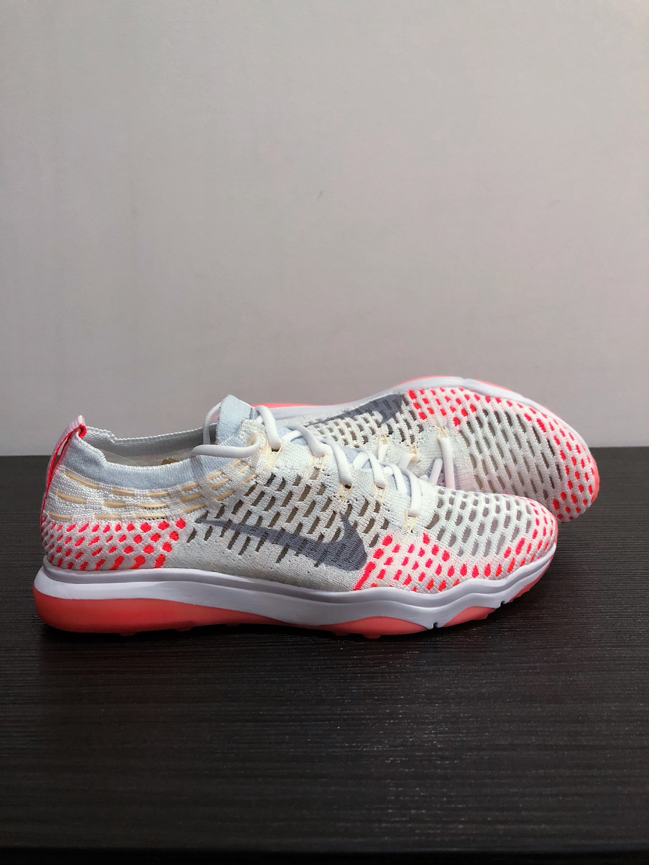 cheap for discount f7f47 ed6d5 W Air Zoom Fearless Flyknit (White Wolf Grey-Racer Pink) Style  850426 102.  US 8, UK 5.5, EU 39. Womens Collection