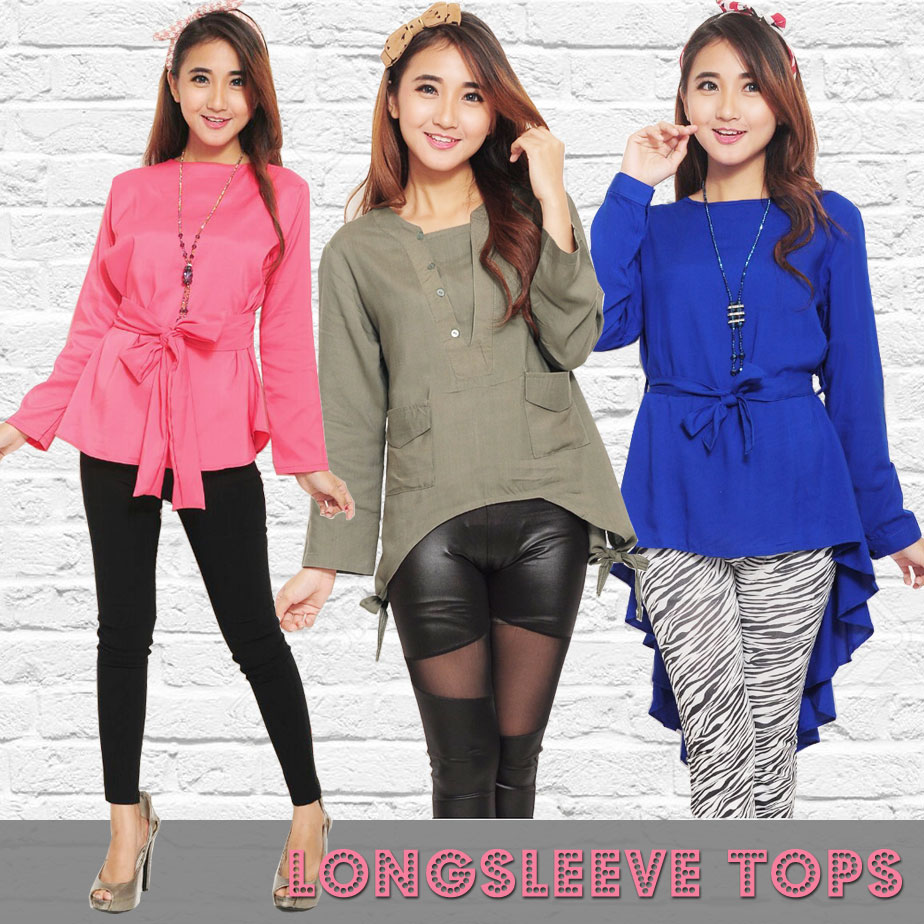 Buy Atasan Lengan Panjang Deals For Only Rp60000 Instead Of Rp69000 Marina Ribbon Longsleeve Top Sr0410 01 Highlights