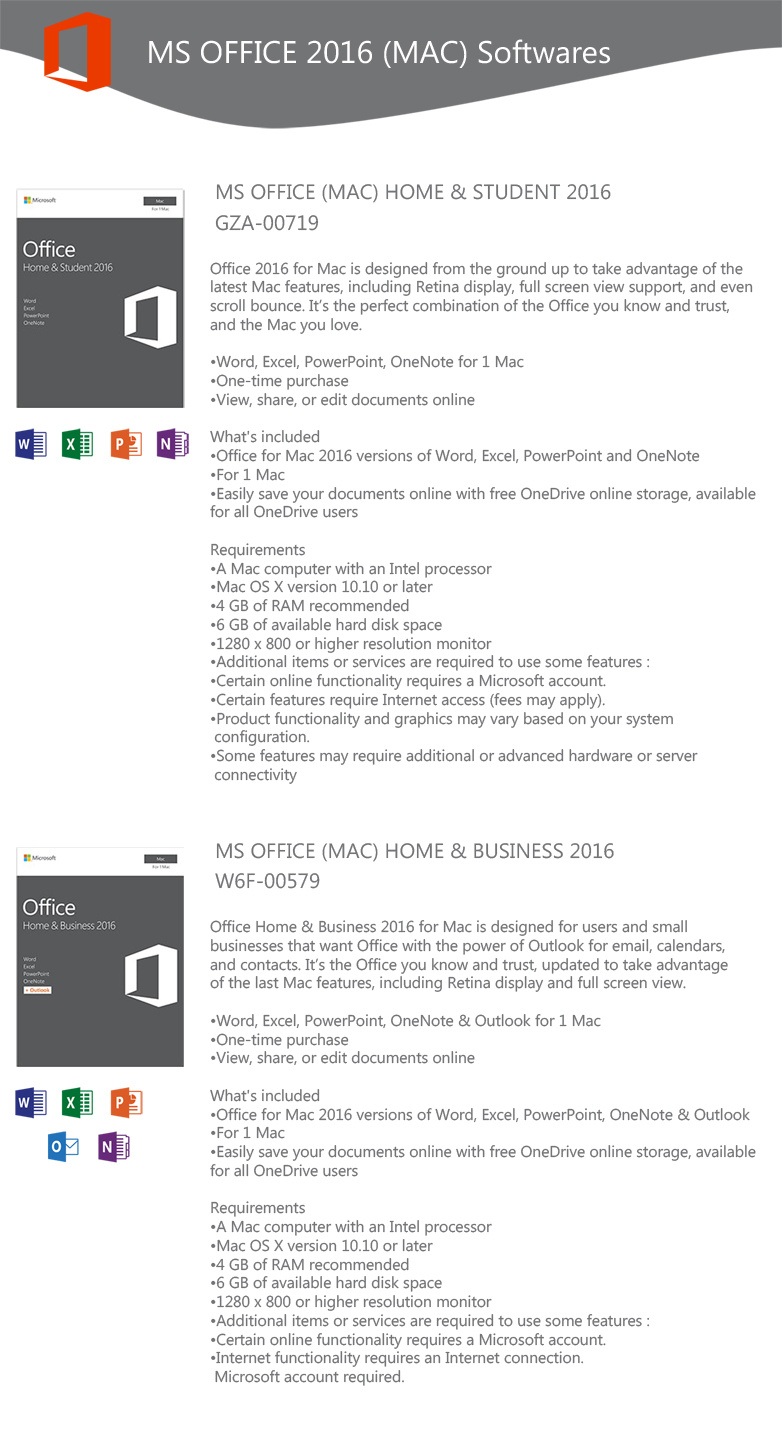 ms office home and business 2016 features