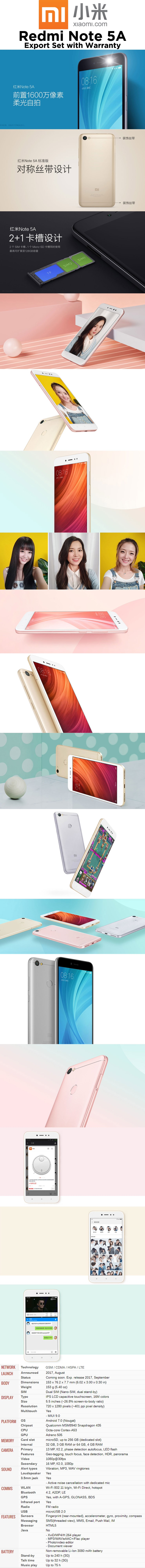 Buy Xiaomi Redmi Note 5a Smartphone 32gb Rom Deals For Only S399 Ram 2 16 Is Also Know As 5 Prime