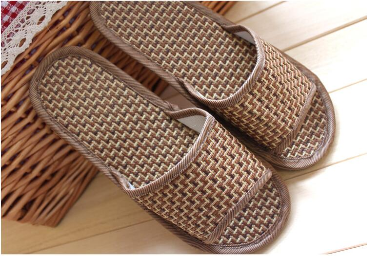 48df66c6cdc7 Bamboo rattan grass slippers pure natural tropical Royal rattan home summer  sandals slippers