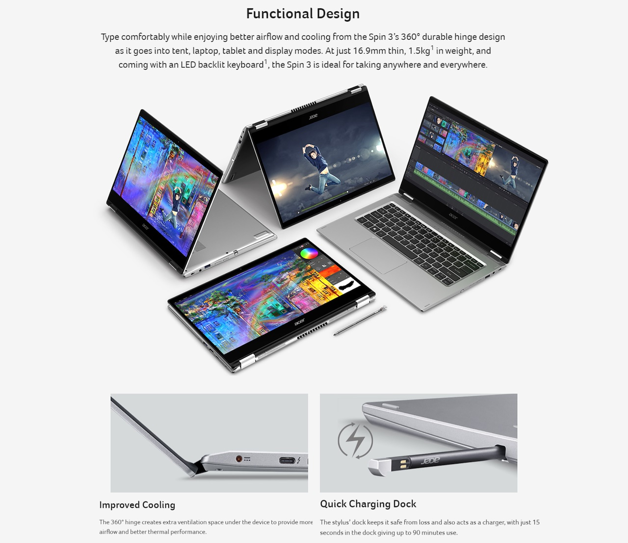 Spin 3 Convertible Laptop | SP314-54N-524Z | Singapore | Acer Singapore Official Store