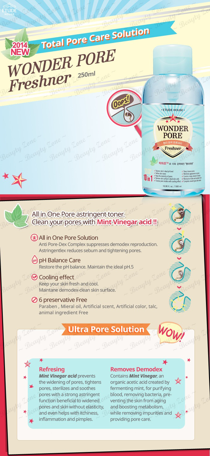 Buy Etude House Wonder Pore Freshner 250ml 500ml Deals For Only Rp42 500 Ml Highlights
