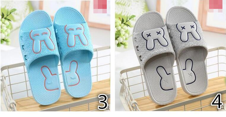 537f7449262c Female summer sandals and slippers home indoor home skid couple cute child bath  bathroom slippers su