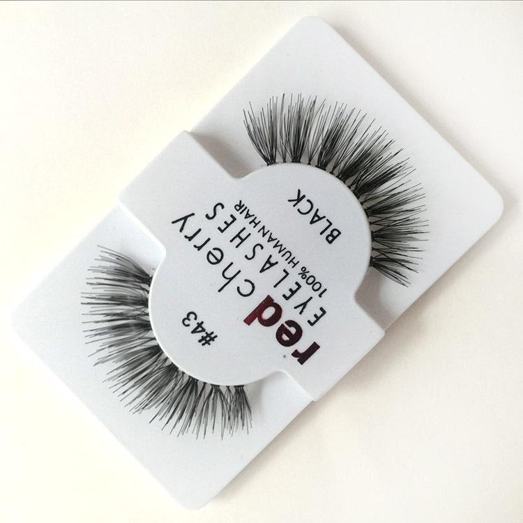 3dc25aeaf82 Red Cherry Thick False Eyelashes/ 100% Human Hair Strip Lash/Fake Eyelashes/  Eye Lashes