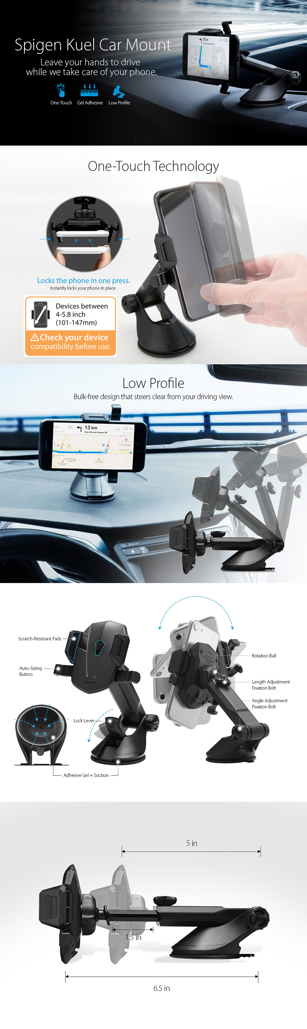 Every Need Want Day Spigen Car Holder Cradle Universal Kuel Turbulence S40 2 Mount Iridium Silver Color Steel Grey Black Lunar Blue