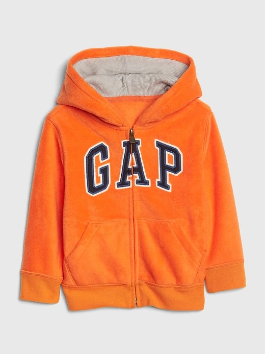 NEW GAP ORANGE LIGHTWEIGHT LOGO HOODIE SIZE 12-18-24M 2T 3T 4T 5T