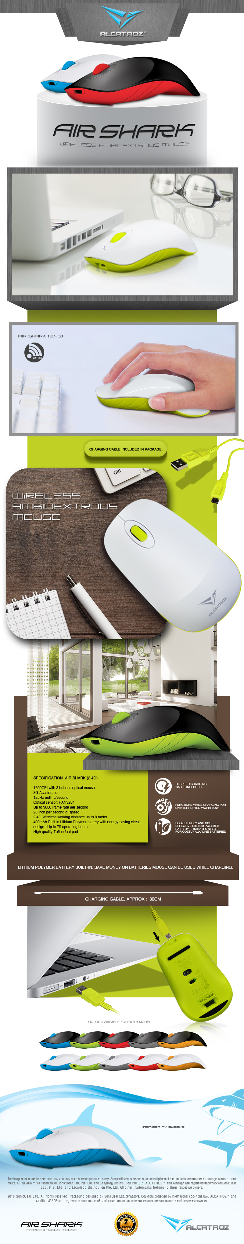 Every Need Want Day Mouse Alcatroz Lithium L2 2 Years Local Warranty