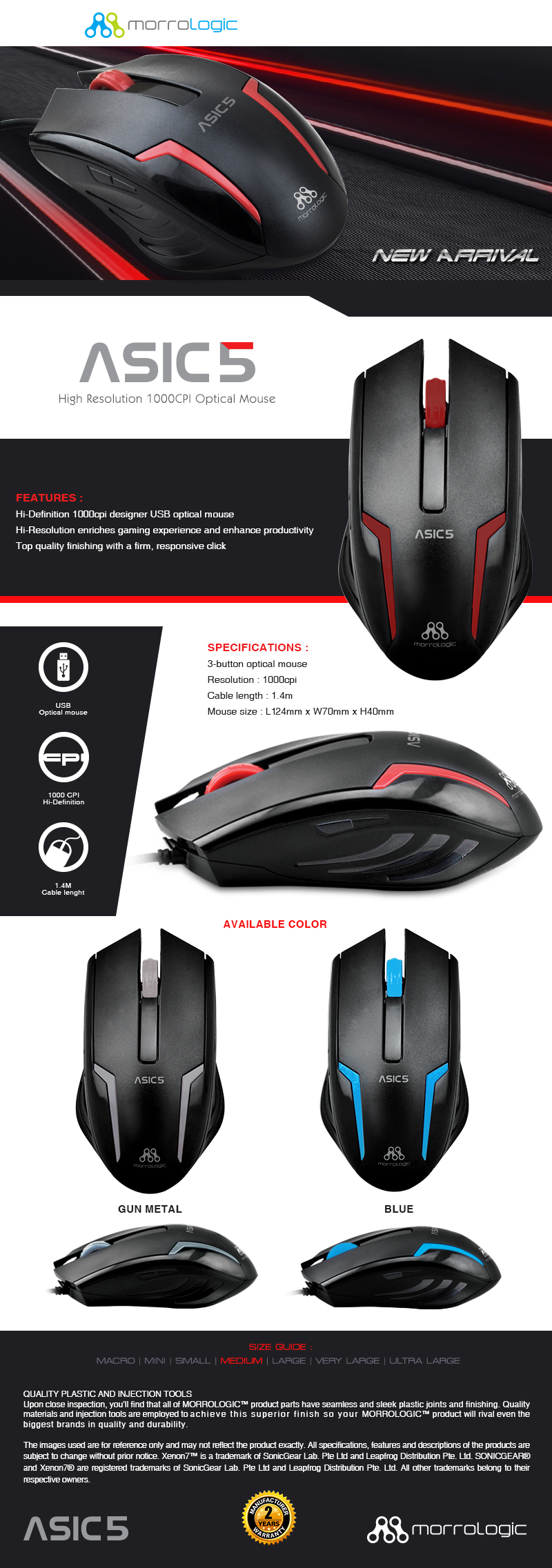 Every Need Want Day Mouse Alcatroz Lithium L2 Asic 5 Series