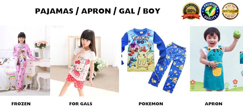 80fab0f0e 【SG READY STOCK】Korean Kids PAJAMAS☆Sleepwear☆Kids Apron☆Hello Kitty ☆Pokemon☆girl/boy/Children
