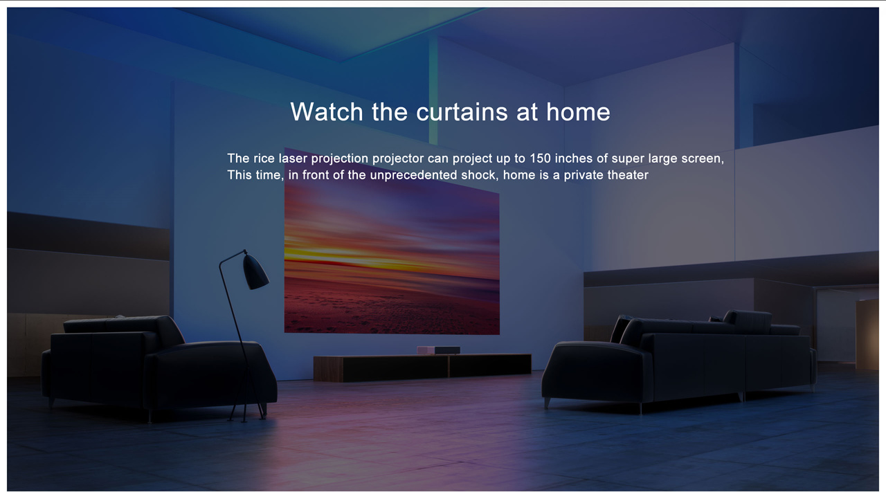 In stock★ Xiaomi Mi Mijia Laser Projection TV 150 Inches 1080 Full HD 4K  Support DOLBY DTS 3D | PrestoMall - Xiao Mi