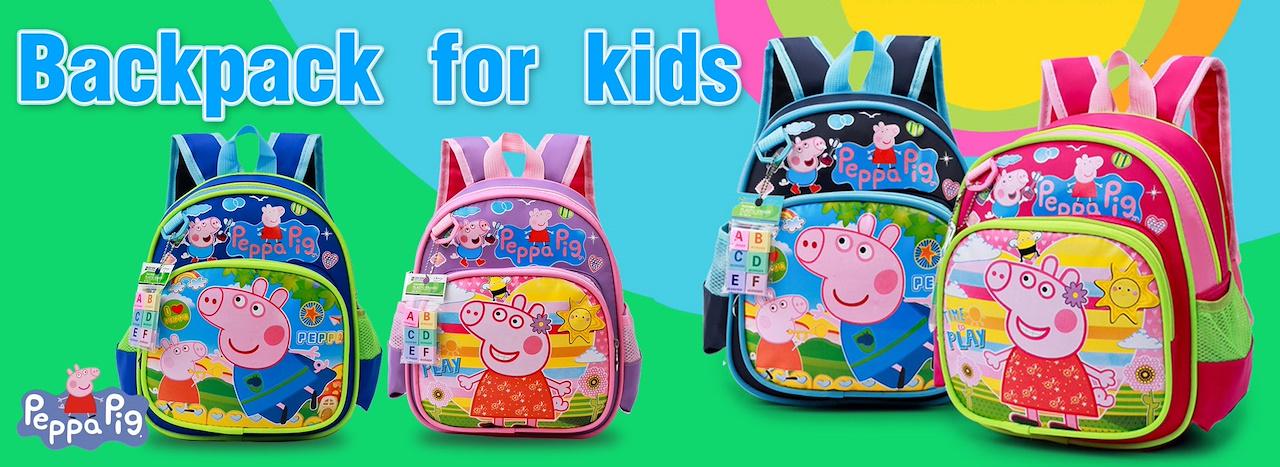Backpack▷Peppa Pig backpack for kids◁Cartoon bag  Big capacity  Good  quality  Cute School bag 7bf6ce688f9c2
