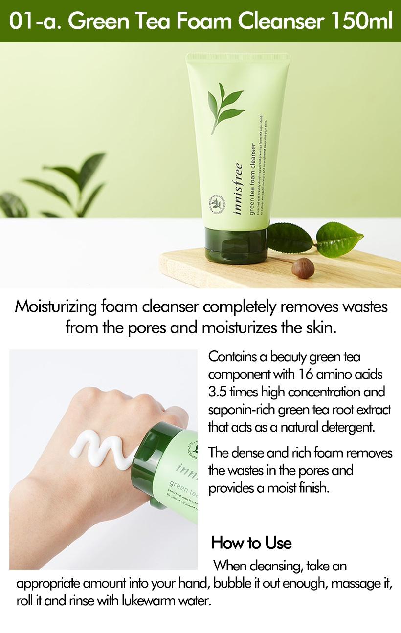 5267de940ba 2018 March New Launching Stocks!!! 01-a. Green Tea Foam Cleanser 150ml