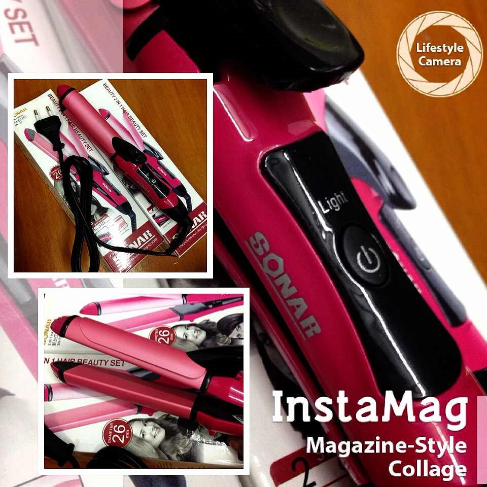Buy Catokan Sonar Nova 2in1 Hair Beauty Set Sn 757 Dapat Catok Big 2 In 1 Curly Highlights N Straight