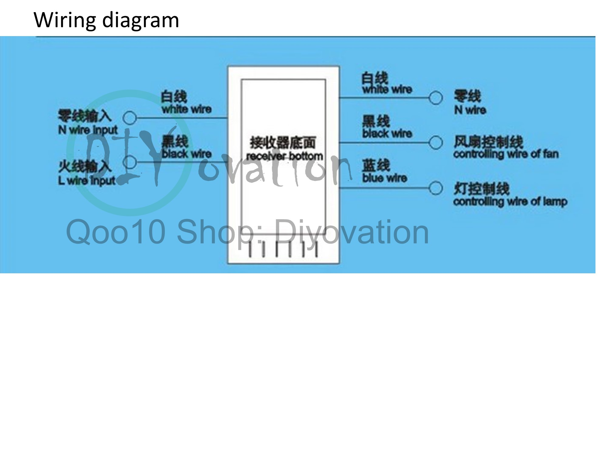 Wiring Diagram For Ceiling Fan Remote Control Buy Universal Posco Peak Diy To Replace Your Current Just Follow The Same Connection Of Old Controller