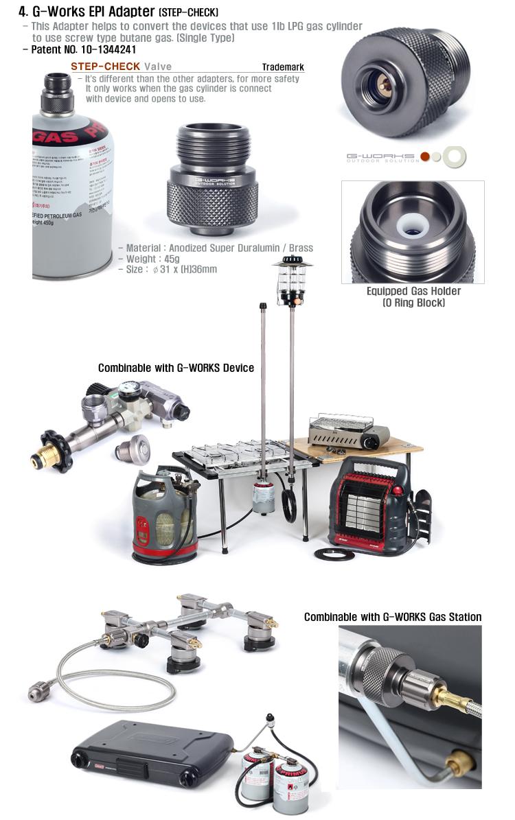 G-funciona solución de gas 2 De Ahorro De Gas Butano Propano LPG Epi Adaptador superlivianos