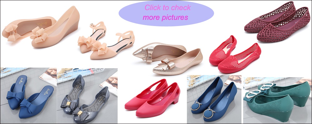 90da6fbb47fa 2019 NEW arrival JELLY Shoes women shoes rain shoes flat heels wedge  sandals casual slippers