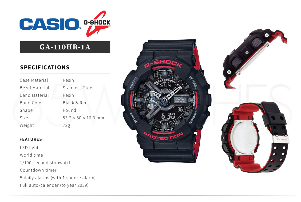 Buy Casio G Shock Top Sellers New Items Monthly Free Ga 110hr 1adr Series 110 Code A14