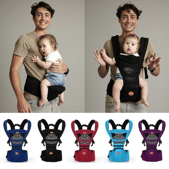 dd4538021ab AIEBAO Detachable Multifunctional baby Hipseat Hip Seat Baby Carrier  Backpack Waist