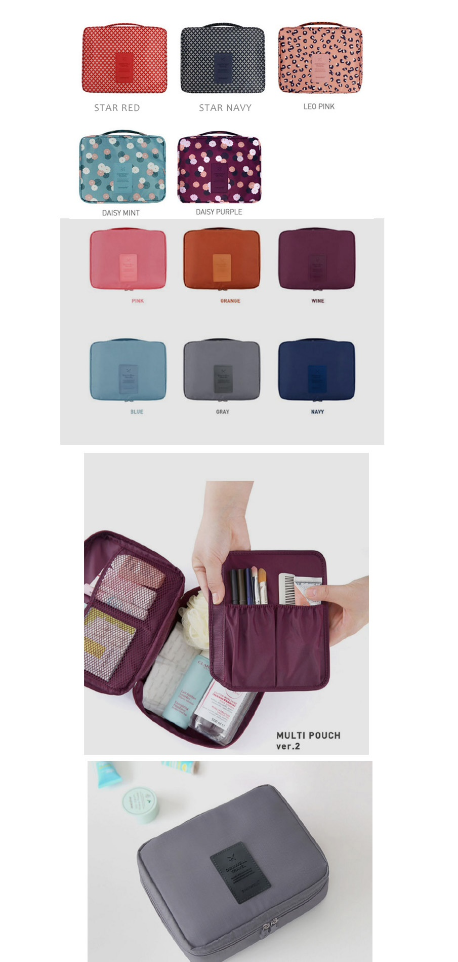 Multi Pouch Travelling Travel Bag Bags Luggage