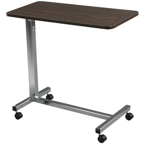 Overbed Table Wooden Adjustable Height